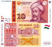 TAJIKISTAN 10 Somoni P-16a  1999 (2000) UNC - Tajikistan