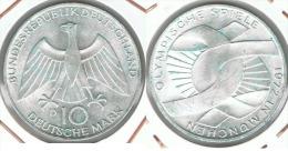 ALEMANIA DEUTSCHES  10 MARK 1972 D EMBLEMA  PLATA SILBER. F1 - [ 7] 1949-… : RFA - Rep. Fed. Alemana