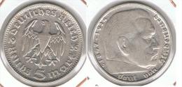 ALEMANIA DEUTSCHES REICH 5 MARK 1935 J  PLATA SILBER. F1 - [ 7] 1949-… : RFA - Rep. Fed. Alemana