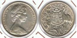 AUSTRALIA 50 CENTS DOLLAR 1966 PLATA SILVER F1 - Australia