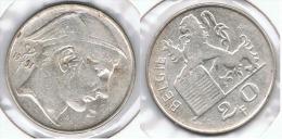 BELGICA 20 FRANCS 1951 PLATA SILVER F1 - 1945-1951: Regencia