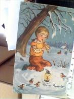 BUON  NATAL Illustrata BAMBINIIO  E PASSEROTTI V1966 EV810 - Natale