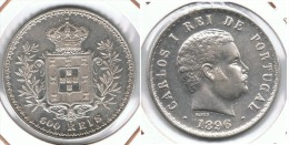 PORTUGAL 500 REIS 1896 BONITA PLATA SILVER E1