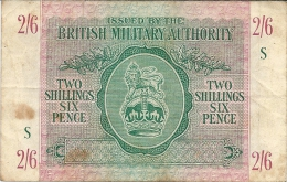 N. 1 Banconota - Occupazione Britannica In Sicilia - TWO SCILLINGS SIX PENCE - BRITISH MILITARY AUTHORITY - 1943 - Military Issues