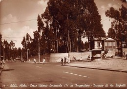 """01808 """"ADDIS ABEBA - C.SO VITT. EMANUELE III RE IMPERATORE - INCROCIO DI VIA NEGHELLI"""" ANIMATA. CART. ORIG. SPED. 1939 - Etiopia"""
