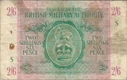 N. 1 Banconota - Occupazione Britannica In Sicilia - TWO SCILLINGS SIX PENCE - BRITISH MILITARY AUTHORIY - 1943 - Autorità Militare Britannica