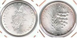 VATICANO PABLO VI 500 LIRA 1971 PLATA SILVER F1 - Vaticano (Ciudad Del)