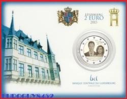 LUXEMBURG - COINCARD 2 € COMM. 2015 BU - TROONSBESTIJGING GROOTHERTOG HENRI - Luxembourg