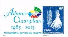 Nouvelle Caledonie Timbre Personnalise Timbre A Moi Prive Alliance Champlain 2015 Francophonie Nouveau - Other
