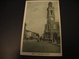 CARTOLINA VIAGGIATA RUSSI TORRE DELL'OROLOGIO  ANIMATA 1948 - Ravenna
