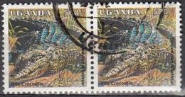 Uganda, 1995 - 500sh Nile Crocodile, Coppia - Nr.1335 Usato° - Uganda (1962-...)