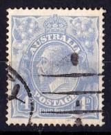 Australia 1922 King George V 4d Ultramarine Single Crown Used - SG65 - - Gebruikt