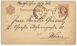PK  Waldhausen - Leopoldstadt Wien                 1883 - Briefe U. Dokumente