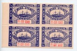 GB Cinderellas T-Mike Stamps Labels Block Of 4 (D782) - Werbemarken, Vignetten