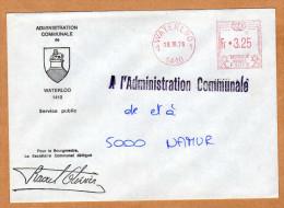 Enveloppe Brief Cover Administration Communale De Waterloo - Belgium