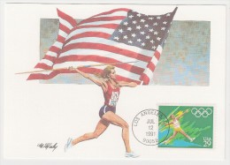 USA, 1991, Summer Olympics, Athletics, Set Of 5 Maximum Cards, FDC, Los Angeles, 12-7-91 - Giochi Olimpici