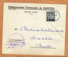 Enveloppe Brief Cover Administration Communale De Saintes - Belgique