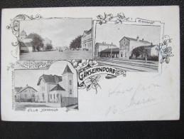 AK GÄNSERNDORF Bahnhof Adelskorrespondenz Comtesse Andrassy 1900 /// D*16736 - Gänserndorf