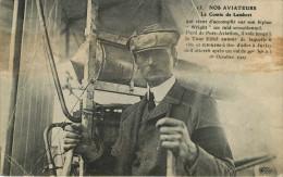 Aviation - Avions - Aviateurs - Le Comte De Lambert - Biplan Wright - Raid - Port Aviation - Tour Eiffel - Juvisy - état - Airmen, Fliers