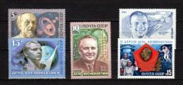USSR Russia 1984/1986 Space, Yuri Gagarin 5 Stamps MNH - UdSSR