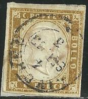 1855-63 - SARDEGNA - 10 CENT. - 14D - LIVORNO - SIGNED -  SPL - - Sardaigne