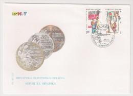 Croatia, 1997, Olympic Medals, Tennis, Basketball, Water Polo, Handball, FDC, Zagreb, 10-9-97 - Giochi Olimpici