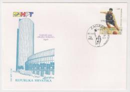 Croatia, 1994, Basketball, Drazen Petrovic (1964-93), FDC, Zagreb, 7-6-94 - Hockey (su Erba)