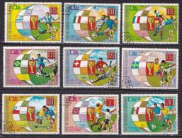 Republic De Guinea Equatorial 1974 Football World Championship Munich 2 Complete Used Sets Yvert Yv. 21 + Airmail 36 - Coppa Del Mondo