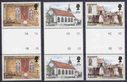 Falkland Islands 1999 St. Mary´s Church 3v Gutter ** Mnh (22643) - Falklandeilanden