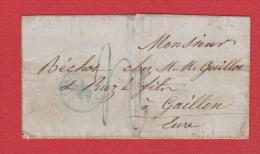 Plis //   De Paris  //  Pour Gaillon  // 22 Novembre 1843 // - Marcophilie (Lettres)