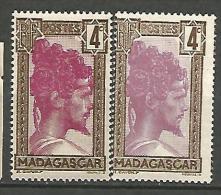MADAGASCAR N� 163* ET 163a**   NEUF**/* TB