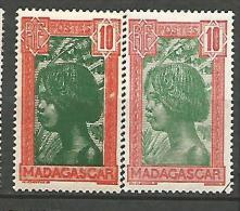 MADAGASCAR N� 165 x 2 NUANCES  NEUF* TRACE DE CHARNIERE / MH