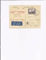1re Exposition Aerophilatelique Bruxelles 21 Mai 1933 - Sabena - Vue Interieure D'un Avion Trimoteur - Binnenzicht - Avions