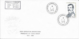XXIXE EXPEDIT. EN TERRE ADELIE  - DUMONT DURVILLE -  PAPIER GAUFRE  1979 - Terres Australes Et Antarctiques Françaises (TAAF)