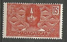 MADAGASCAR N� 166  NEUF* TRACE DE  CHARNIERE  / MH