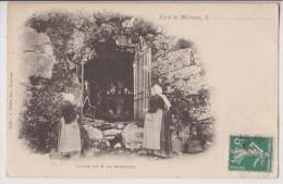 MERVENT : LA FORET - GROTTE DU PERE DE MONTFORT - ECRITE 1906 - 2 SCANS - - Autres Communes