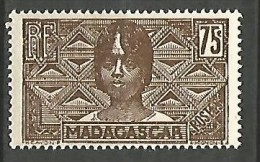 MADAGASCAR N� 173  NEUF* TRACE DE CHARNIERE  / MH