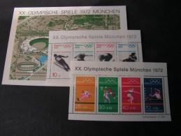 == BRD  3 Blöcke 6 , 7, 8  Olympiade Sport  1972   ** MNH   Michel €  16,00 - Blocks & Sheetlets