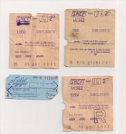 LOT 3 TICKETS SNCF SAINT-CLAUDE - MOREZ + TICKET 2 VOYAGES
