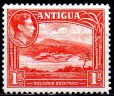 ANTIGUA 1938 King George VI - 1d Nelson's Dockyard MH - Antigua & Barbuda (...-1981)