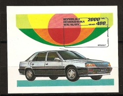 Madagascar 1992 n� BF 81 ** Automobile, Voiture ancienne, Renault, 25, R25, Turbo, Collection, Sandouville, Routi�re