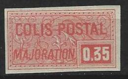 """FR Colis Postaux YT 25 """" Majoration 35c. Rouge Non Dentelé """" 1918-20 Neuf* - Parcel Post"""