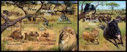nig15205ab Niger 2015 Big Cats Lion 2 s/s