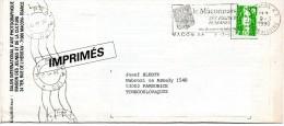 "France 1990. Macon Loire Printed Matter ""Salon Photographique""to Pardubice, Czechoslovakia. Praha 120 Transit Mark - Storia Postale"