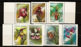 Madagascar 1993 n� 1323A / G ** Fleurs, Orchid�es, Paphiop�dilum, Cypripedium, Ophrys, Cephalanthera, Calanthe vestita