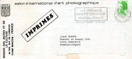 "France 1988. Macon Loire Printed Matter ""Salon Photographique""to Pardubice, Czechoslovakia. Praha 120 Transit Mark - Storia Postale"