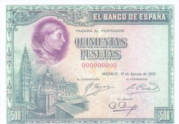 "SPAIN 1928 - REPLICA REPRODUCCION  - CARDENAL CISNEROS - FRANCISCO CASANOVA ""LIBERACION DE CAUTIVOS DE TUNEZ PAPER BILL - [ 8] Falsi & Saggi"