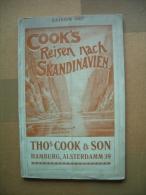 Seltene Broschüre / Heft  COOK´s Reisen Nach SKANDINAVIEN - Gedruckt 1907 - - Dampfer