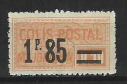 """FR Colis Postaux YT 42 """" Majoration 1F85 S. 10c. Orange """" 1926 Neuf* - Paketmarken"""