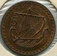 Chypre Cyprus 5 Mils 1963 KM 39 - Chypre
